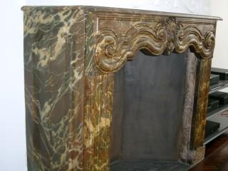 Marble imitation fireplace